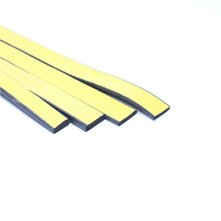 EPDM发泡条矩形海绵条 黑色平板I型条自粘橡胶条配电箱柜密封条