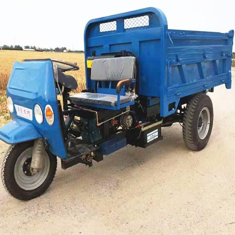 山东七速加重柴油工程三轮车 18马力农用三轮车