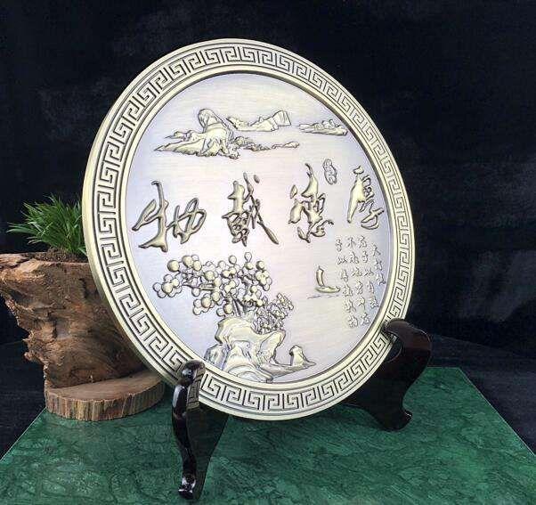 铝板雕刻工艺纪念品家居办公桌摆件雕刻工艺品