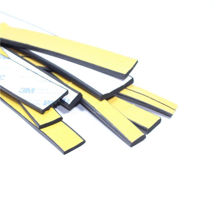 配电柜箱密封条三元乙丙发泡橡胶条带胶自粘型平板胶条