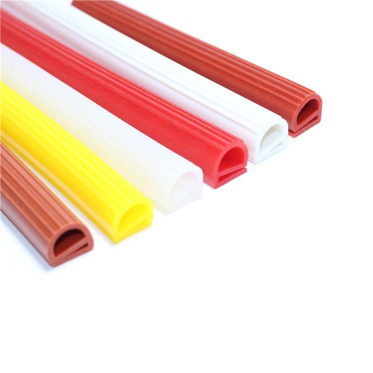e型硅胶条E型硅橡胶钢材包边卡槽防撞条