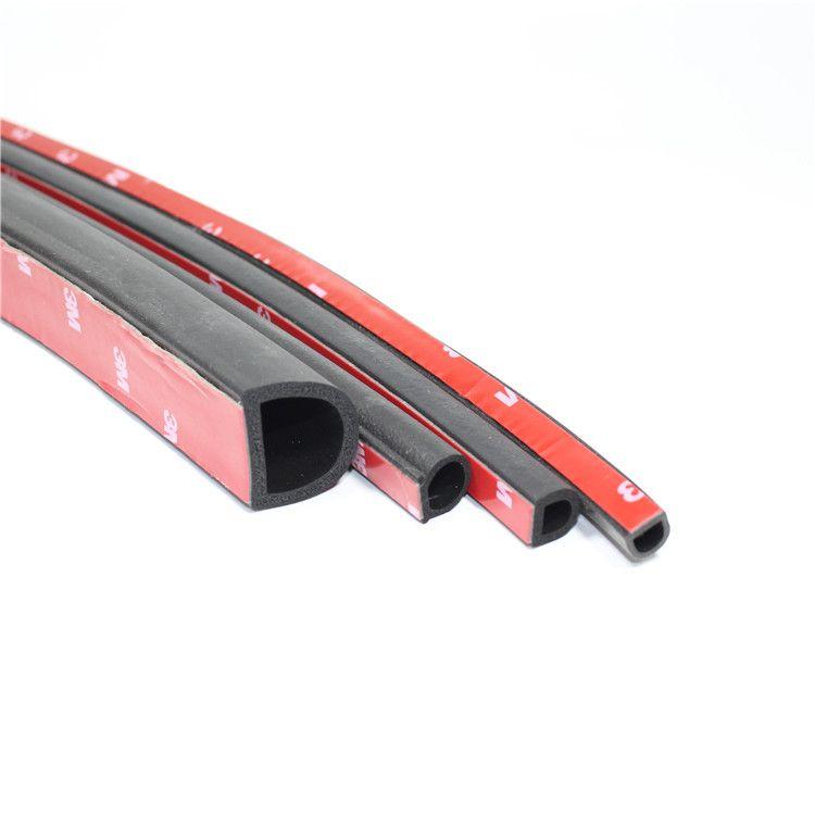 三元乙丙发泡橡胶D型带胶自粘型工业机械门窗适用防撞防水密封条