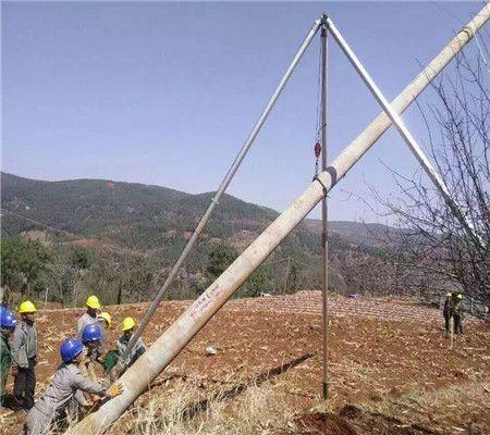 三角架立杆机 铝合金立杆机 线杆立杆器 三脚架立杆机 起杆器