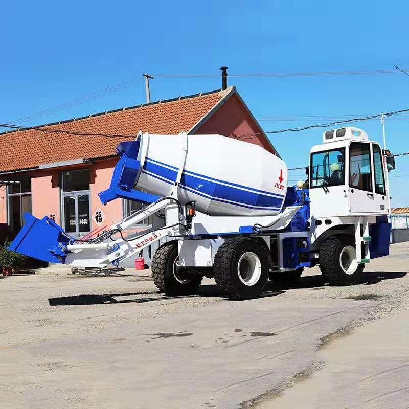 水泥攪拌車廠家混凝土自動上料車