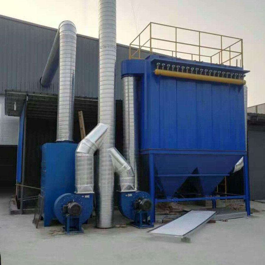 锅炉脉冲布袋除尘器工业除尘器脉冲式一体自动布袋除尘器