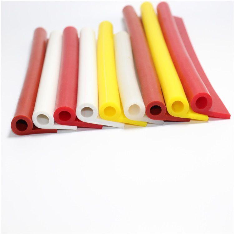 硅胶P型密封条 耐磨损防撞硅橡胶条