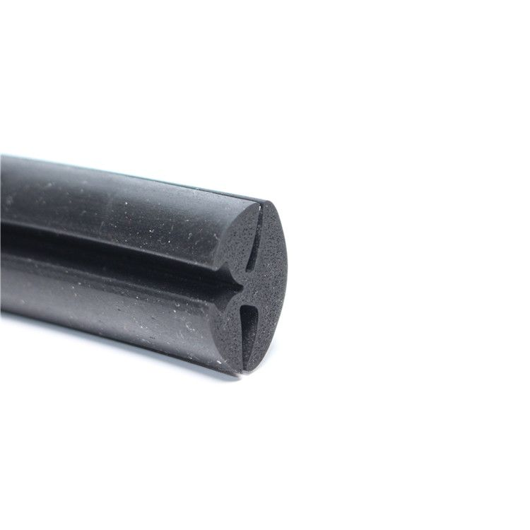 二口穿芯密封条 电器设备胶条 三元乙丙二口橡胶密封条