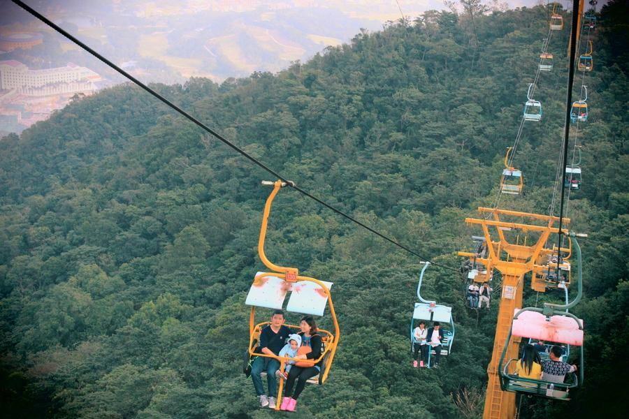 滑雪場景區索道纜車