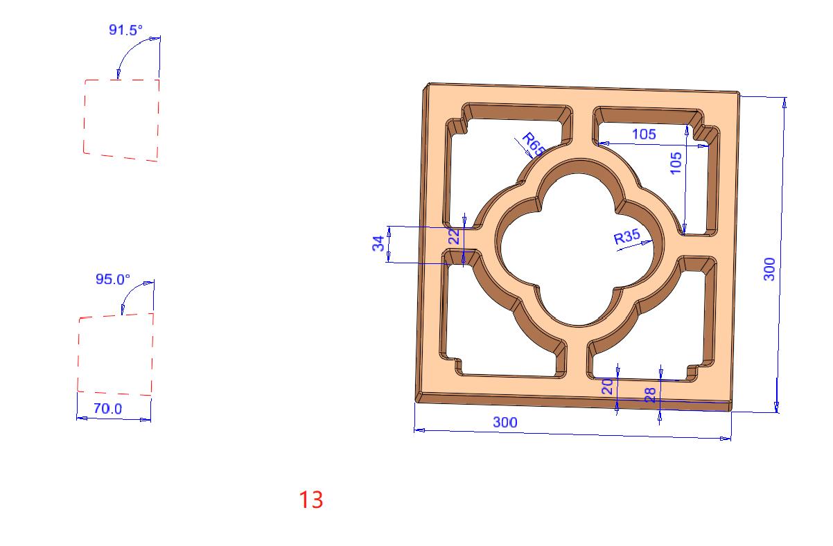 河北花窗塑料模型-定制墙头花砖模具图片