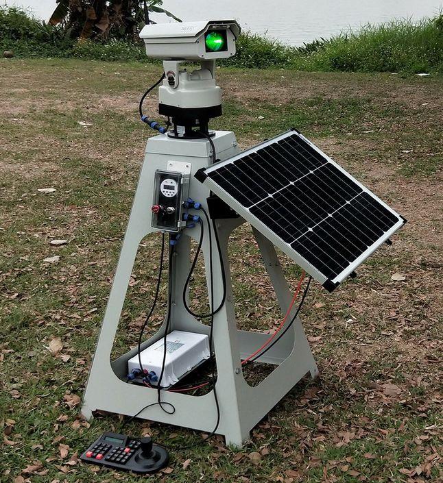 S1W型1W全自动激光驱鸟器太阳能供电遥控定时键盘操控