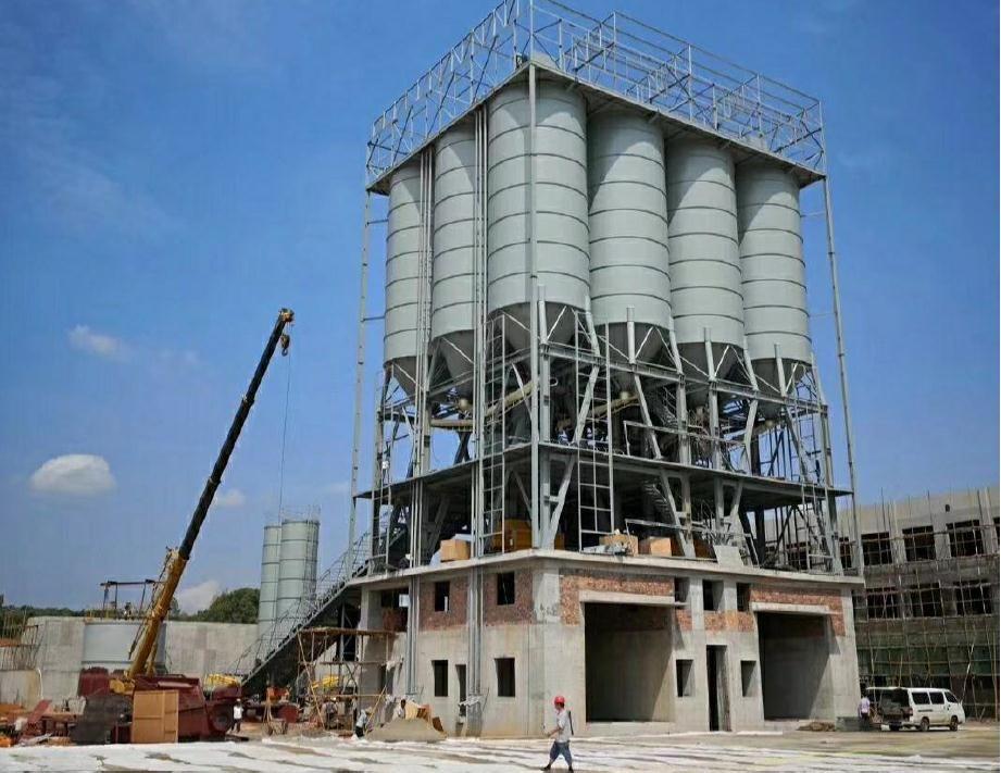鄭州粉倉頂置環保型攪拌站生產廠家